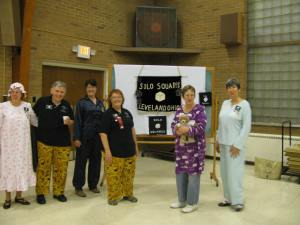 Our members and guests in their jammies